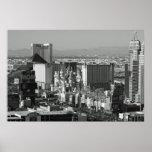 Foto blanco y negro de Las Vegas Póster
