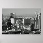Foto blanco y negro de Las Vegas Posters