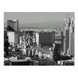Foto blanco y negro de Las Vegas Tarjeta Postal