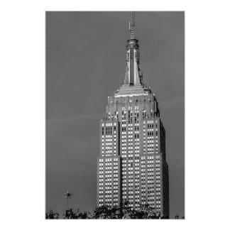 Foto blanco y negro del Empire State Building