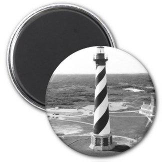 Foto blanco y negro del faro de Hatteras del cabo Imanes Para Frigoríficos