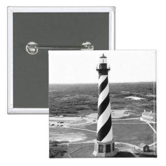 Foto blanco y negro del faro de Hatteras del cabo Pin Cuadrado