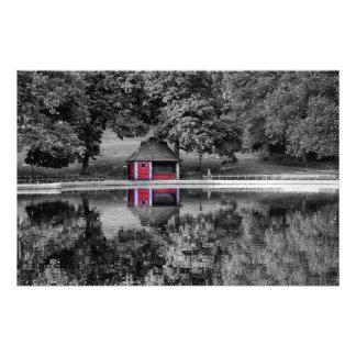 Foto blanco y negro del paisaje del Central Park Fotografía