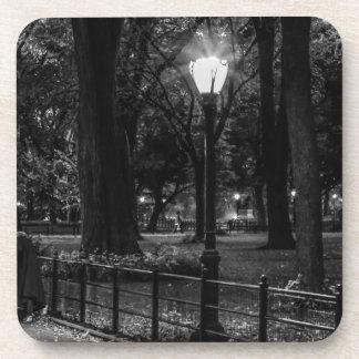 Foto blanco y negro del paisaje del Central Park Posavasos
