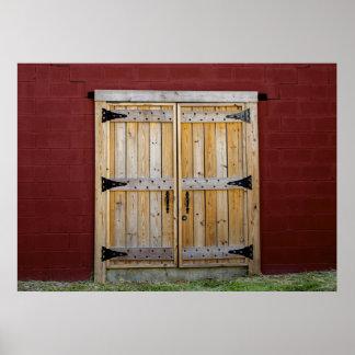 Foto brillante roja de la puerta de la puerta de m impresiones