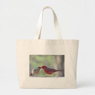 Foto cardinal bolsa de tela grande