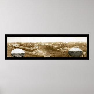 Foto castaña 1907 de la máquina segador internacio posters