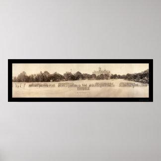 Foto castaña 1918 de la universidad póster