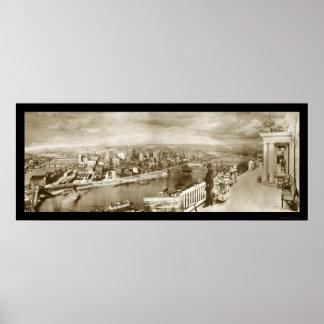 Foto centenaria 1909 de Pittsburgh Póster