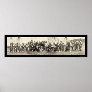 Foto centenaria india 1911 de la banda póster