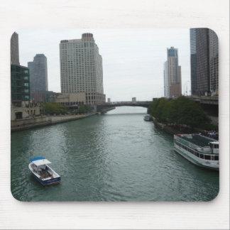 Foto céntrica Mousepad del río Chicago Alfombrilla De Ratón