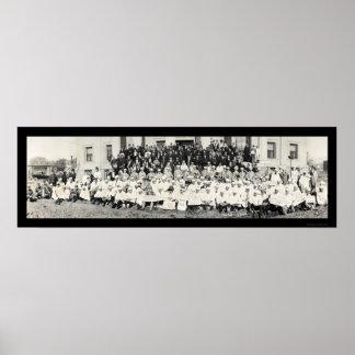 Foto ceremonial 1920 de Shriners Impresiones