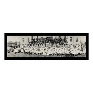 Foto ceremonial 1920 de Shriners Póster