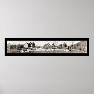 Foto cherokee 1909 de la escuela del NC Póster