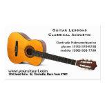 Foto clásica de la guitarra acústica - lecciones d tarjetas de visita