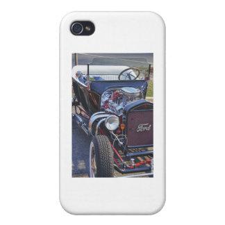 Foto clásica T de la imagen de HDR del coche de ca iPhone 4 Cárcasas