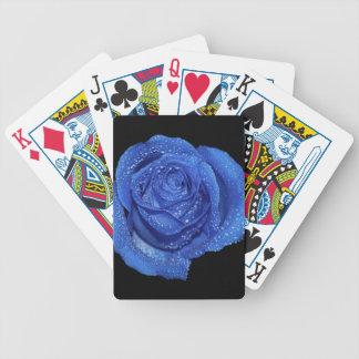 Foto color de rosa azul magnífica del arte baraja