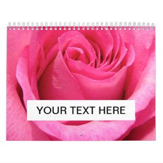 Foto color de rosa rosada del boda calendarios de pared