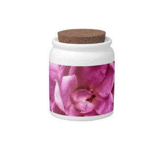Foto color de rosa rosada elegante jarras para caramelos