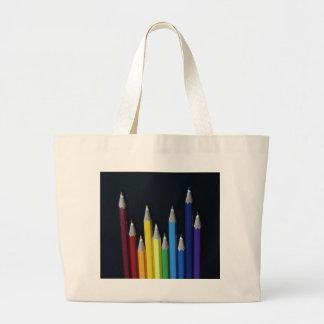 Foto coloreada del gráfico del arco iris de los lá bolsa de mano