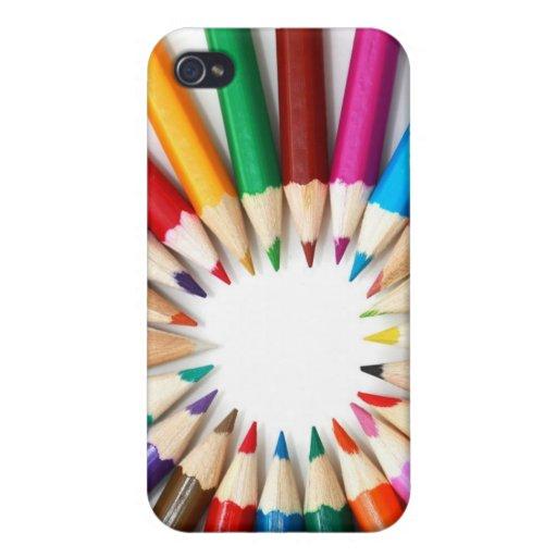 Foto coloreada del gráfico del arco iris de los lá iPhone 4/4S carcasa