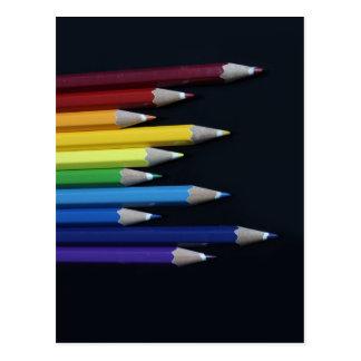 Foto coloreada del gráfico del arco iris de los postal