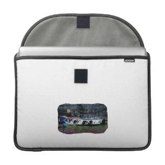 Foto coloreada única del bote pequeño funda para macbooks