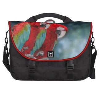 Foto colorida brillante de los pájaros de los pare bolsa de ordenador