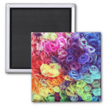 Foto colorida de las flores de papel iman para frigorífico
