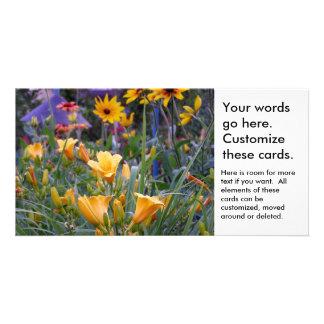 Foto colorida de las flores del bonito de la tarjeta fotografica personalizada