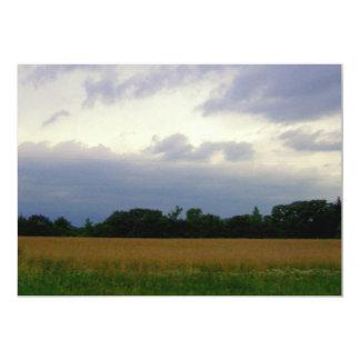 Foto colorida de las nubes de tormenta de los invitación 12,7 x 17,8 cm