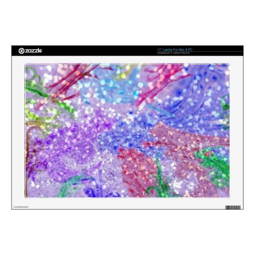 Foto colorida púrpura del brillo del extracto de l skins para portátil