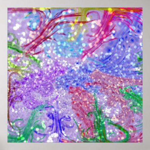 Foto colorida púrpura del brillo del extracto de l impresiones