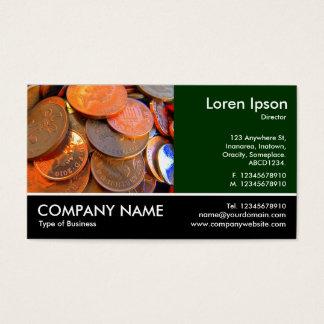 Foto con base - el color del dinero tarjeta de negocios
