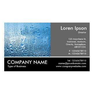 Foto con base - gris 60pc - agua azul tarjetas de visita