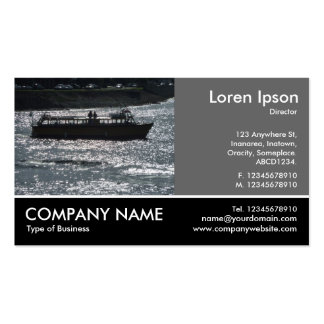 Foto con base - gris 60pc - barco de placer tarjetas de visita