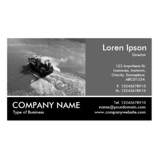 Foto con base - gris 60pc - poco barco rastreador tarjetas de visita