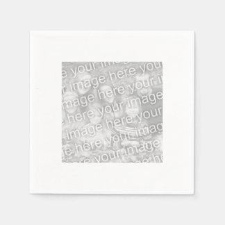 Foto confinada blanca cuadrada servilleta de papel