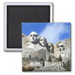 Foto conmemorativa nacional del monte Rushmore del Imán Cuadrado