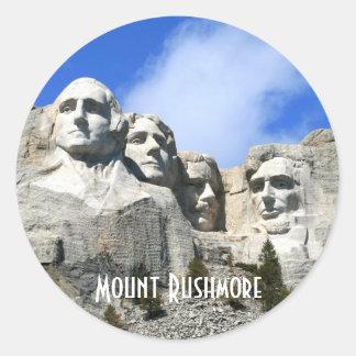 Foto conmemorativa nacional del monte Rushmore del Pegatina Redonda