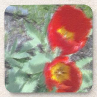 Foto corregida de la flor posavasos de bebidas