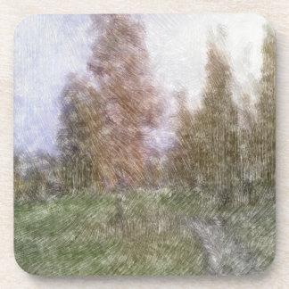 Foto corregida del bosque posavasos