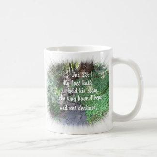 Foto cristiana de la naturaleza del verso de la bi taza de café