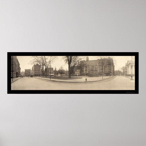 Foto cuadrada 1909 de Springfield mA Poster