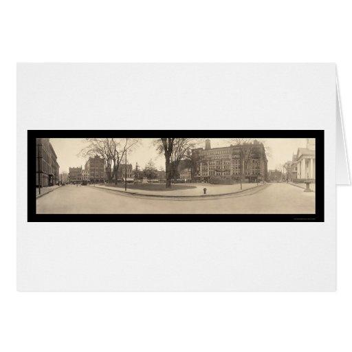 Foto cuadrada 1909 de Springfield mA Tarjeta