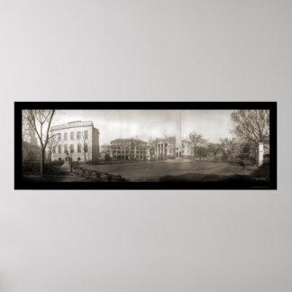 Foto cuadrada 1909 del SC de Charleston Poster