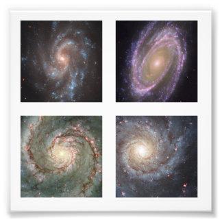 Foto cuadrada de 2 pulgadas de cuatro galaxias esp