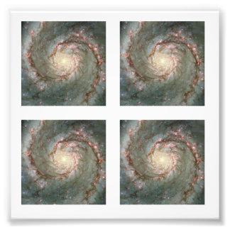 Foto cuadrada de 2 pulgadas de la galaxia de cuatr