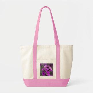 Foto cuadrada de las flores rosadas macras bolsas lienzo