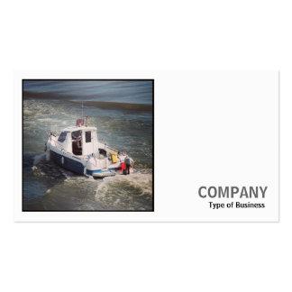 Foto cuadrada (v2) - barco de motor tarjetas de visita